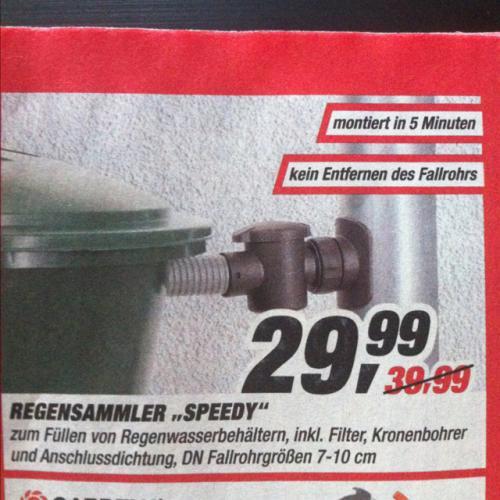 Offline @ TOOM: Speedy Regensammler 29,99€