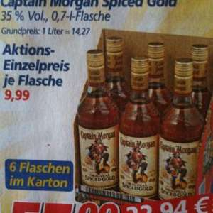 Captain Morgan ab 9,17€ pro Flasche @Real