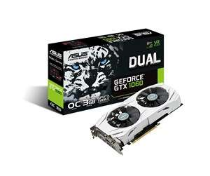 ASUS GeForce GTX 1060 DUAL OC - 3GB