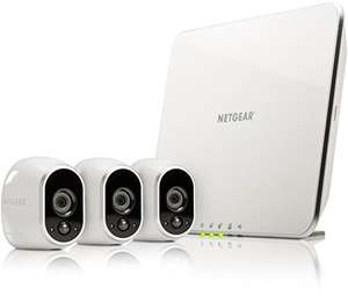 NETGEAR Arlo VMS3330-100EUS Smart Home 3 HD-Überwachung Kamera-Sicherheitsystem (100% kabellos, Indoor/Outdoor, Bewegungssensor, Nachtsicht) weiß für 340,45 EUR statt 415,00 EUR