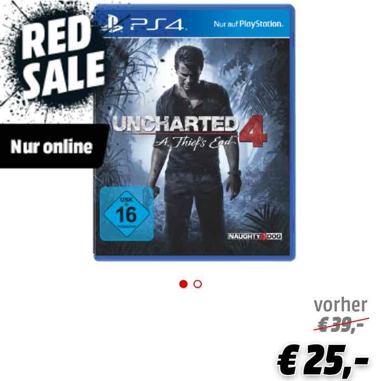 Uncharted 4: A Thief's End [PlayStation 4] MediaMarkt Versandkostenfrei