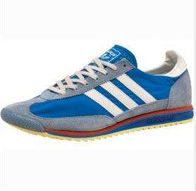 adidas Originals Herrenschuhe SL72 Vintage Trainers Blau/Schiefer