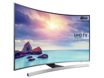"[ibood] Samsung UE55KU6640 55""Curved UHD TV, 1600 PQI, HDR Pro, UHD Upscaling, UHD Dimming, Auto Motion Plus, Active Crystal Color, Smart TV"