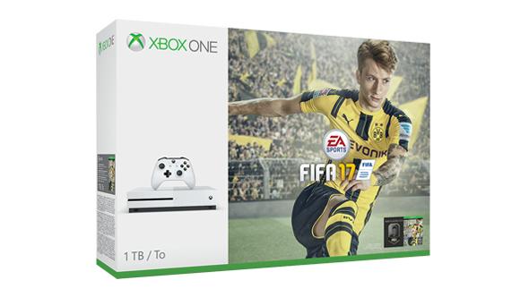 Xbox One S 500GB Konsole - FIFA 17 Bundle / XBox Gold 12 Monate für zusätzliche 39,99 EUR im Angebot