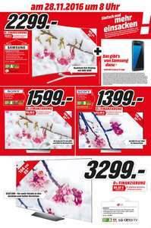Umbau-Werbung LOKAL MM Köln Kalk (65KS9090 + S7 Edge, LG 65B6, Sony 55XD8005 uvm.)