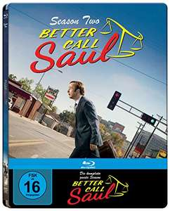 Better Call Saul - Die komplette zweite Staffel (3 Disc Steelbook + Bonusdisc) [Blu-ray] (exklusiv bei Amazon.de) [Limited Edition] für 29,97€ @ Amazon.de