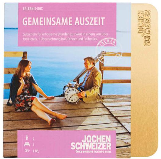 20% Rabatt auf ausgewählte Jochen Schweizer Erlebnis-Boxen bei [GALERIA Kaufhof] z.B. gemeinsame Auszeit für 111,20€ statt 139€