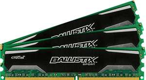 [amazon.it] Crucial Ballistix Sport Arbeitsspeicher 32GB Kit (8GBx4) DDR3 1600 (PC3-12800) UDIMM 240-Pin