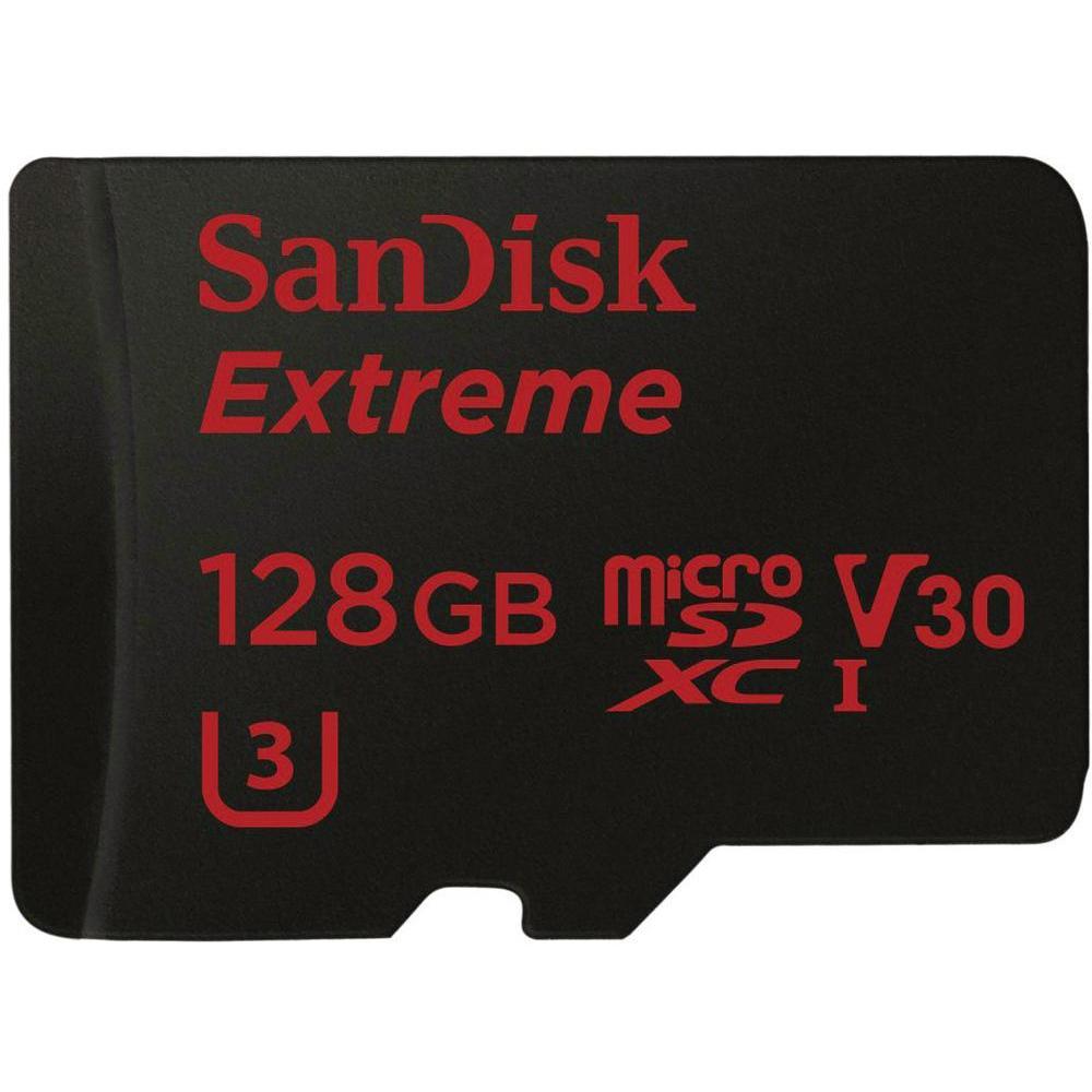 Sandisk Extreme 128GB microSDXC Class 10 / U3 (R.: 90MB/s & W.: 60MB/s) für 48,89€ [Conrad]