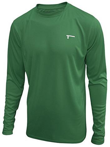 TREN Herren COOL Ultra Lightweight Polyester LS Tee Funktionsshirt T-Shirt Langarm - Grün S-XXL