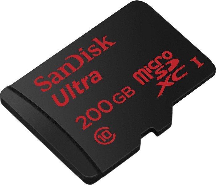 Sandisk Ultra microSDXC 200GB Class 10 / U1 für 49€ versandkostenfrei [Mediamarkt + Amazon]
