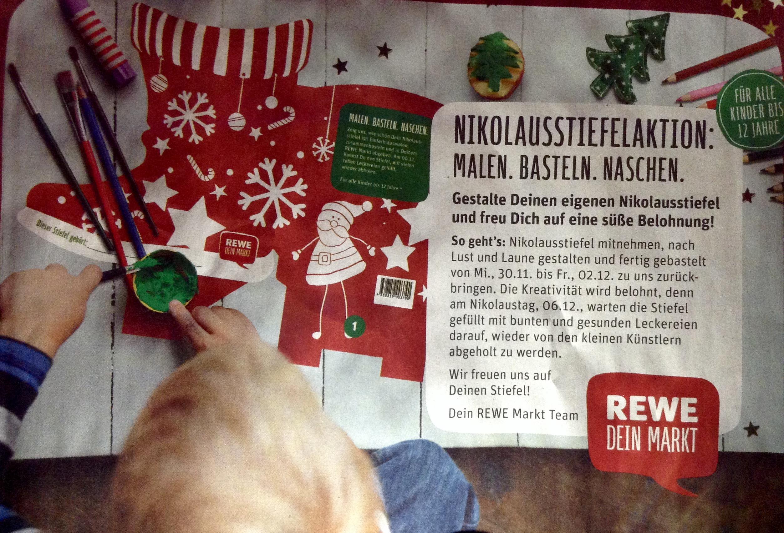REWE Nikolausstiefelaktion 2016