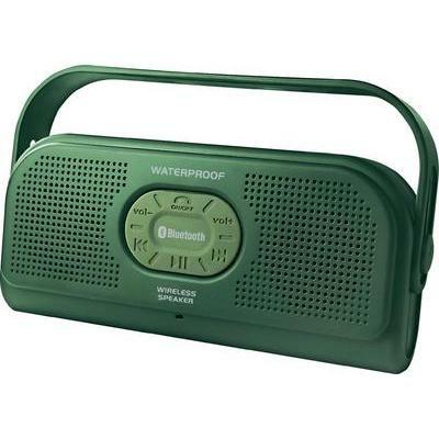 Conrad Bluetooth® Lautsprecher H-618 Freisprechfunktion, spritzwassergeschützt Grün