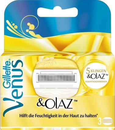 3er Pack Gillette for Women Venus & Olaz 3,99 Euro, Gillette Fusion ProGlide Rasiergel 200 ml 1,59 Euro... ab 19,00 € versandkostenfrei!