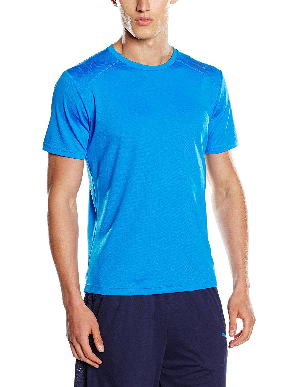 Puma Herren Pt Ess Dry Ss Tee T-Shirt Blau & Gelb / Größen: S-XXL für 5,64€ - 6,03€ statt ab 15,85€ [Amazon Prime]