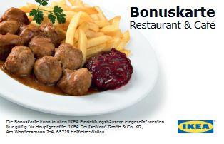 [IKEA] Bonuskarte: 6 Essen zahlen, das 7. umsonst bekommen