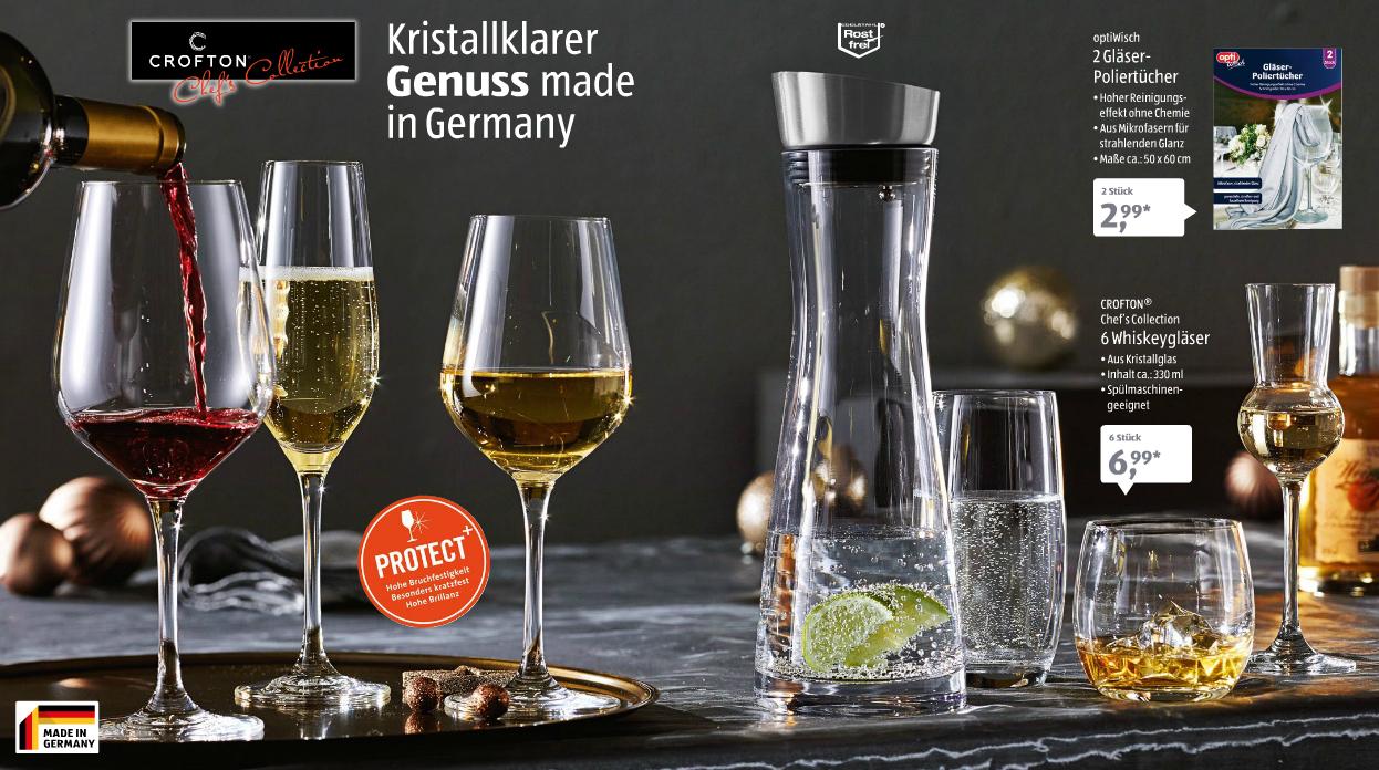 Aldi Süd Diverse Schott Kristallgläser 6er Set für 6,99 ab 08.12.2016