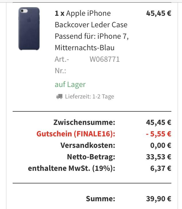 Apple iPhone 7 Leder Case Mitternachts-Blau