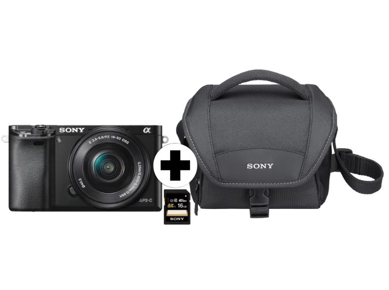Sony A6000 mit 16-50mm (Tasche/SD-Karte)