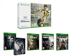 (amazon.fr) Xbox One S 500GB + FIFA 17 (DLC) +Dishonored 2 + Steelbook +Rainbow Six : Siege +Assassin's Creed : Syndicate-Special Edition  +Fallout 4