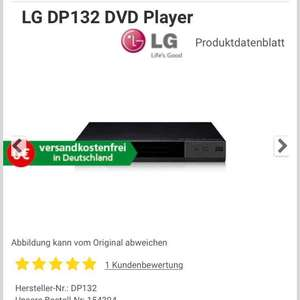 [comtech] LG DP132 DVD Player (incl. Versand)