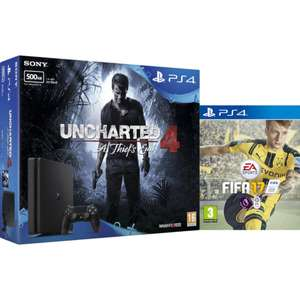 Playstation 4 Slim 500 GB mit Fifa 17 + Uncharted 4 für 228,50 €! (mygeekbox.co.uk)
