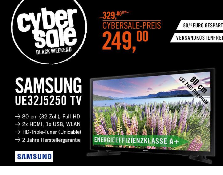 """Samsung UE32J5250 für 249€bei Cyberport - 32"""" LED TV mit Triple-Tuner"""