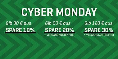 Cybermonday bei Puma ab 30€ 10-30%Rabatt + kombinierbar mit 15%NL Gutschein + 5 Rabatt (ab20€ ) bei Bezahlung mit Paypal + weitere 10% Cashback