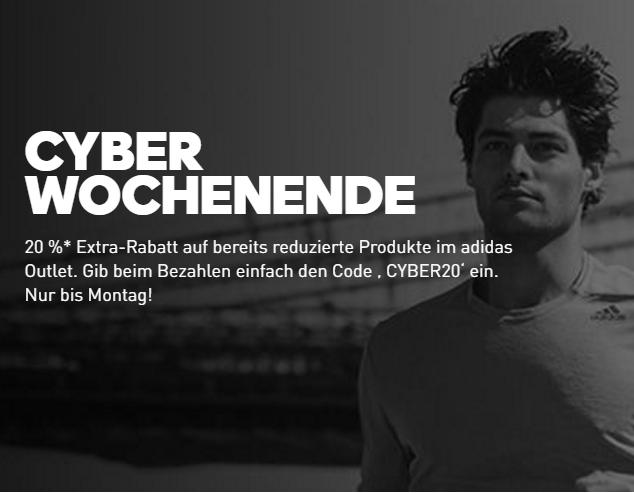 adidas Outlet: Bis zu 50% Rabatt im offiziellen Online Shop + 20% Extra-Rabatt am Cyber Monday