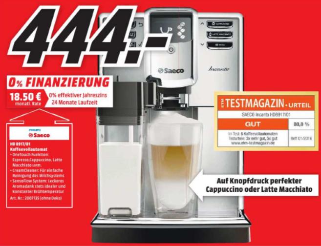 [Neueröffnung MediaMarkt Frankfurt Bergen-Enkheim] Kaffeevollautomat Saeco Incanto für 444 Euro