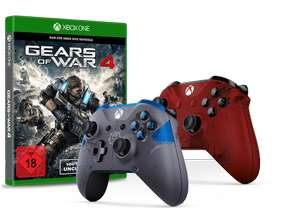Gears of War 4 + GoW Xbox One Controller Crimson Red  oder  Fenix Blue  @ Gamestop