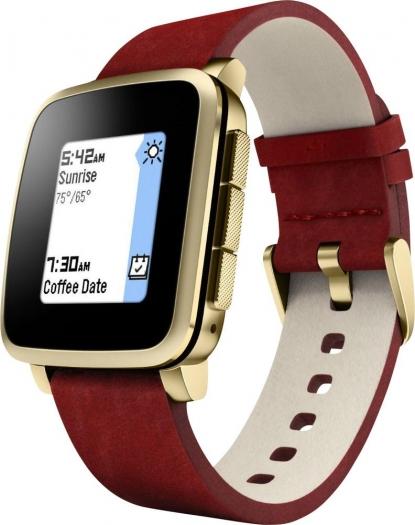 [voelkner.de] Pebble Smartwatch Time Steel (generalüberholt) 3.2 cm 1.26 Zoll Gold
