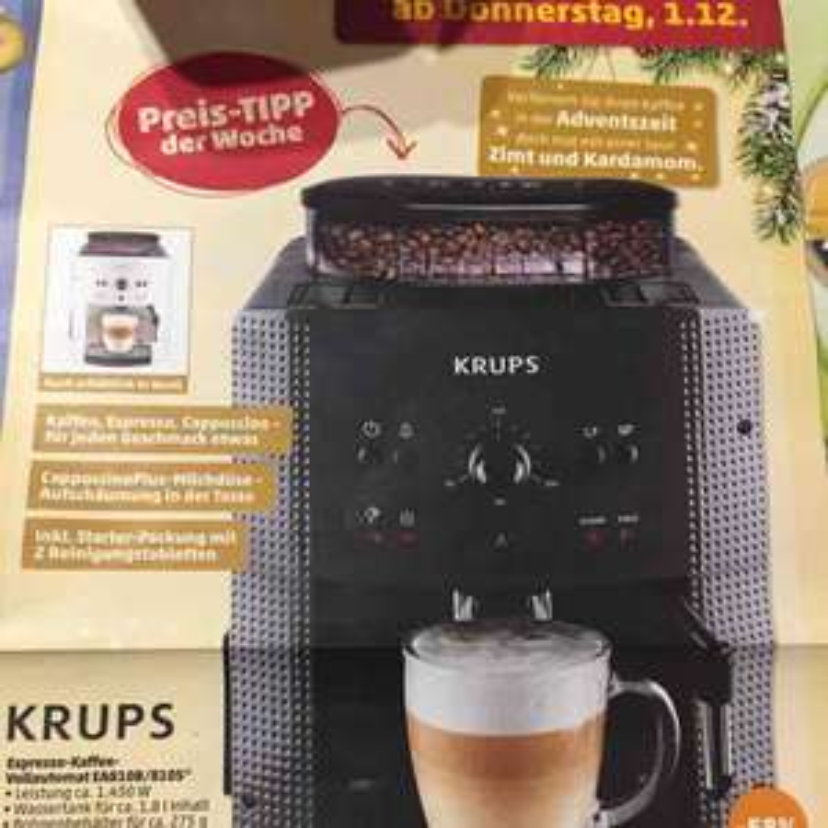 [Lokal] Herford Penny Krups Espresso-Kaffee-Vollautomat EA810B ab 01.12.2016