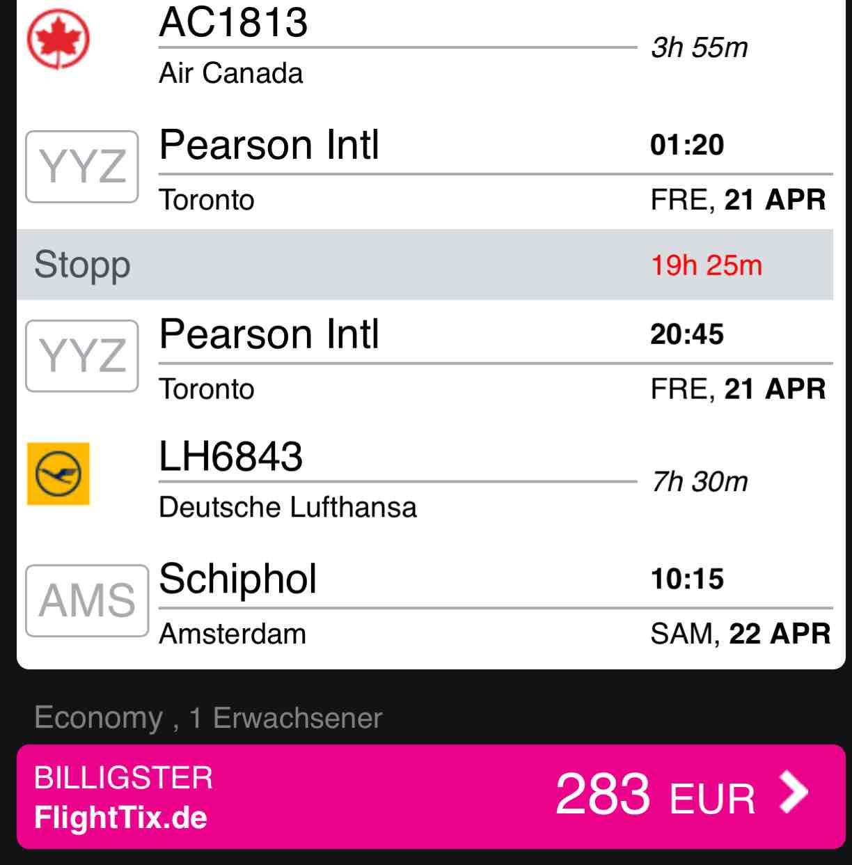 Von Amsterdam nach Cancun, Mexico für €287! Air Canada-Lufthansa