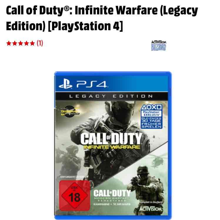 Call of Duty Infinite Warfare Legacy Edition (PS4) im Preis gesenkt!