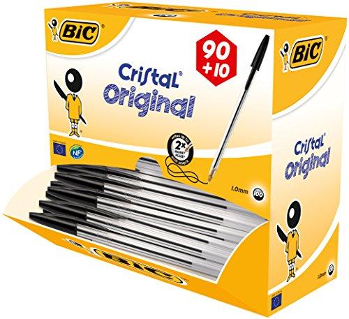 Price Error: Amazon Prime BIC Kugelschreiber Cristal, 0.4 mm, Value Pack 100 Stück, schwarz