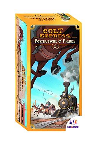 Brettspiel Colt Express (Spiel des Jahres 2015) - 1. Erweiterung Postkutsche und Pferde auf Amazon für 11,61€