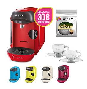 Bosch TASSIMO VIVY +30 EUR Gutscheine* + Jacobs TDiscs + WMF Espresso Gläser Set @ebay 34,99€
