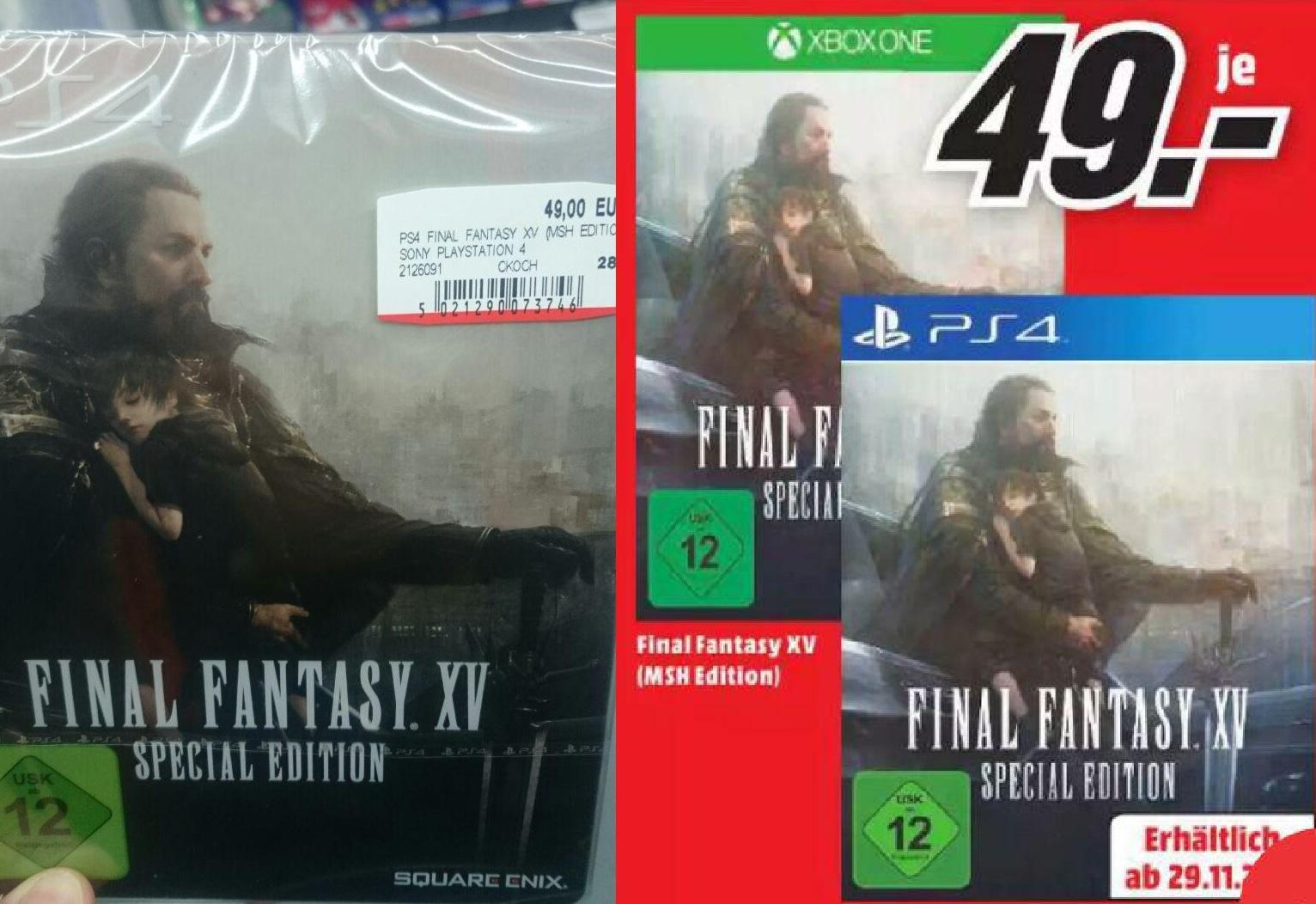 (Lokal Media Markt Karlsruhe) Final Fantasy 15 Special Edition