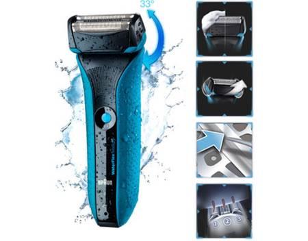 Braun Waterflex WF2s, Limited Edition mit Gillette Sensitiv Gel, Elektrorasierer, Wet & Dry 3-fach Folienrasierer