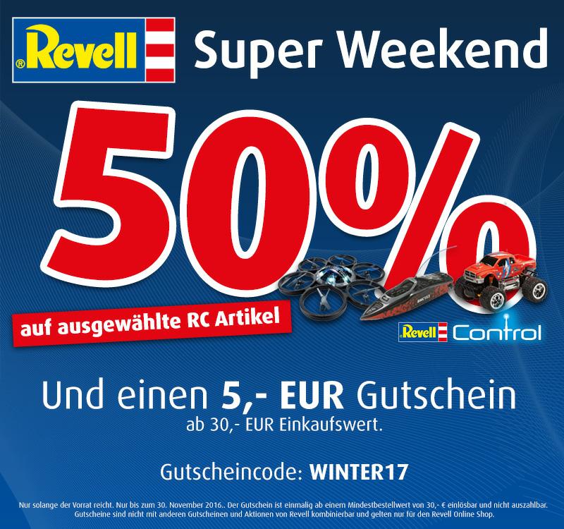 50% auf Revell RC und 5€ Gutschein ab 30€ im Revell-Shop