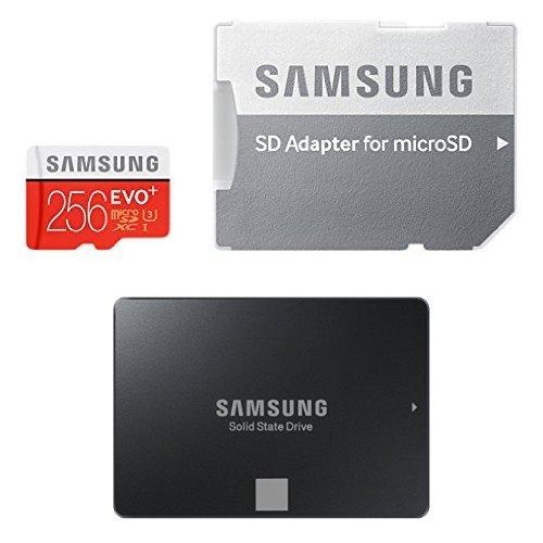 Samsung EVO Plus microSDXC 256GB UHS-I U3 + Samsung 750 Evo 120GB SSD für 191,92€ bei Amazon.es
