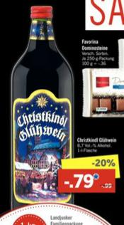 UPDATE LIDL offline Christkindl Glühwein 20% Rabatt Super-Samstag bundesweit