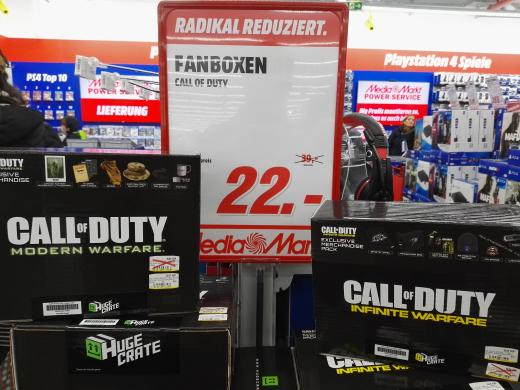 [Lokal Berlin Mediamarkt Alexa] Call of Duty Fanbox: Modern Warfare & Infinite Warfare für je 22€