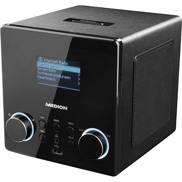 [Plus] MEDION® LIFE® P85044 (MD 87180), Wireless LAN Internet-Radio, DLNA-/UPnP-Kompatibel, Wiedergabe von USB-Sticks, Steuerung per App
