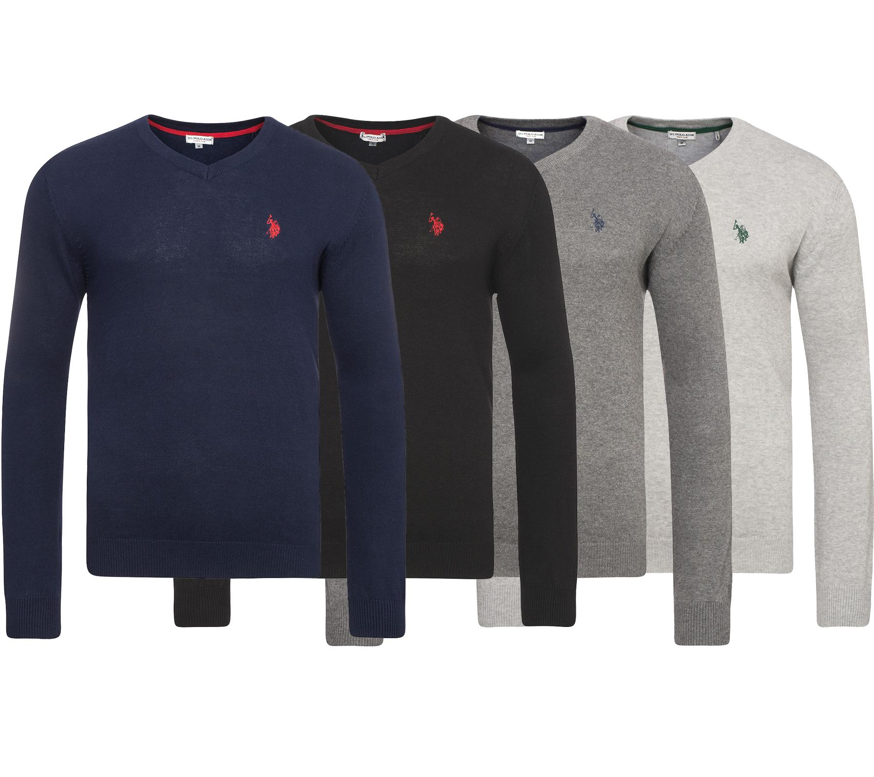 [@outlet46] U.S. Polo Assn. V-Neck Herren Pullover in verschied. Farben