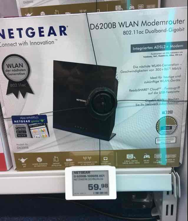 Netgear 1200 AC WLAN Router mit Modem / SATURN Berlin Leipziger Platz - 59,99€