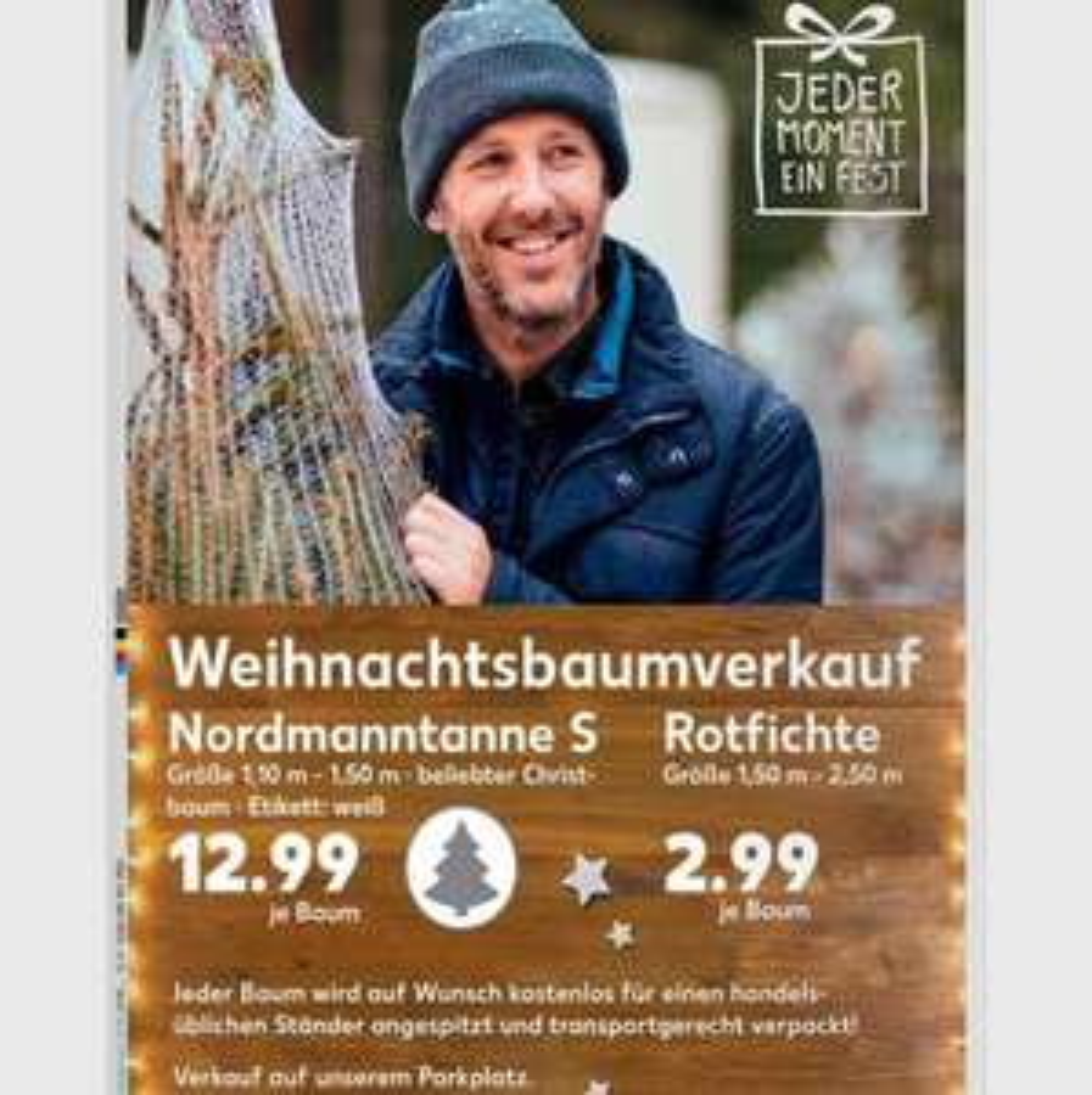 Lokal / weihnachtsbäume ab 2,99€