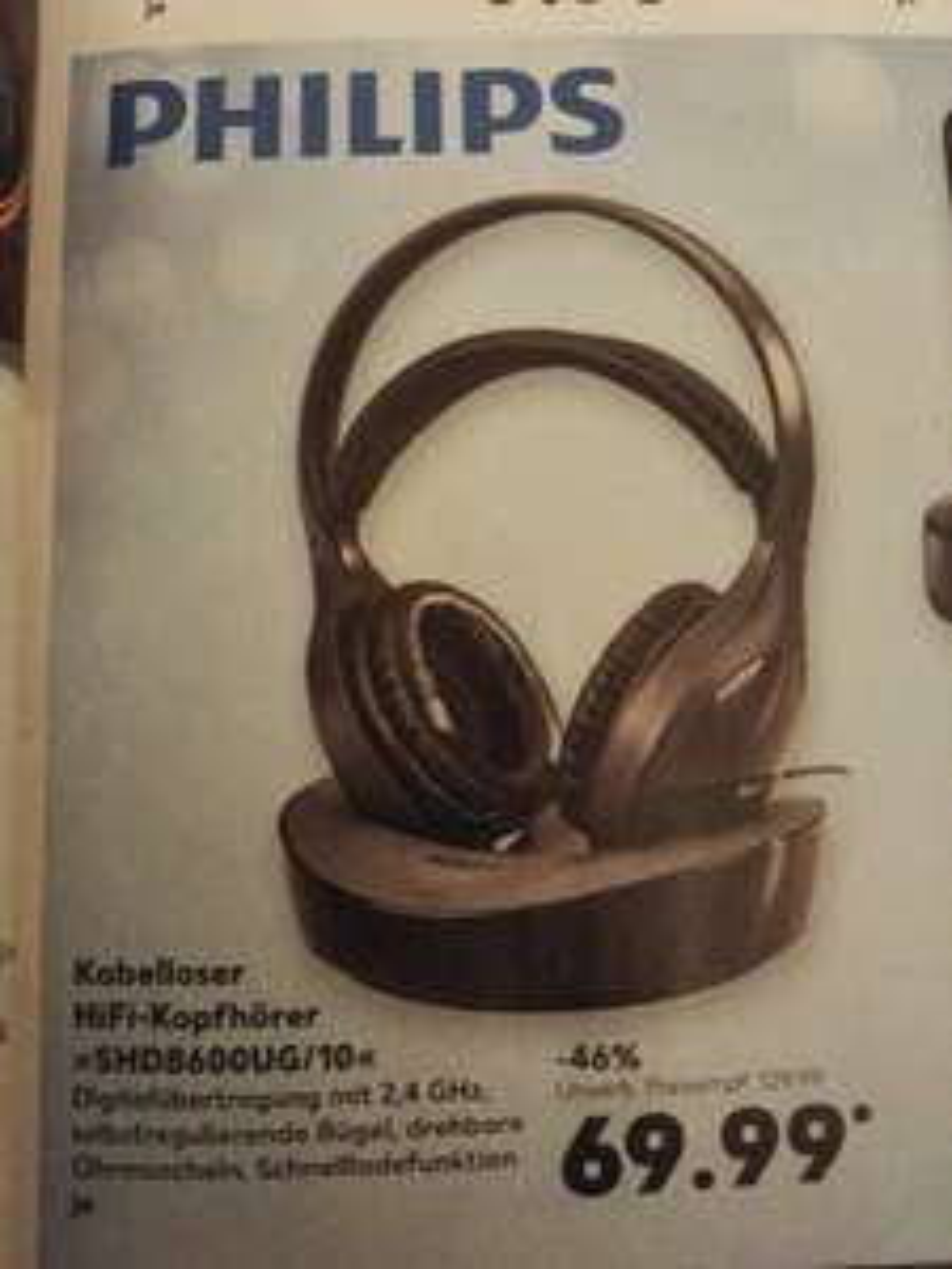 (@Kaufland, Lokal?) Philips SHD8600UG digitaler Funkkopfhörer, Idealo 91,40€