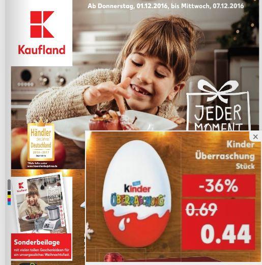 [Kaufland] Ferrero Kinder-Überraschung Ü-Ei (evtl. bundesweit) für 0,44 EUR